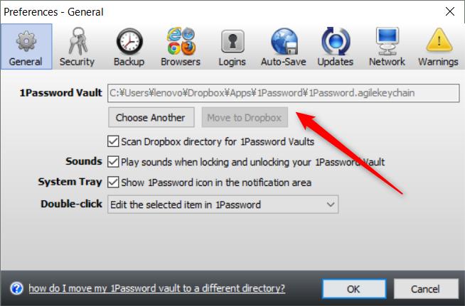 1Password・Dropbox保存
