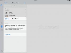 1Password・iPhone同期エラー