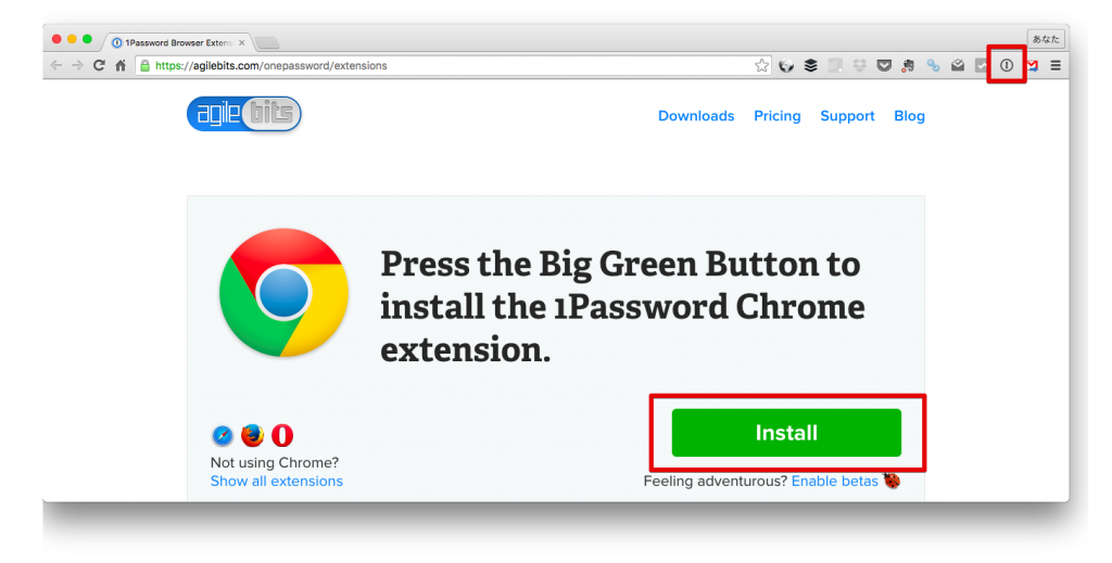 1PasswordChromeExtensions
