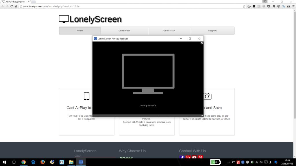 LonelyScreenインストール完了