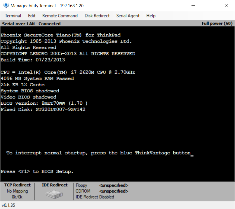 Manageability Commander tool12