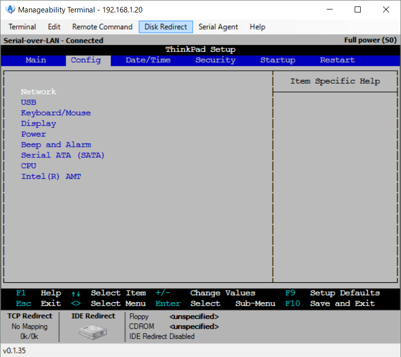 Manageability Commander tool14