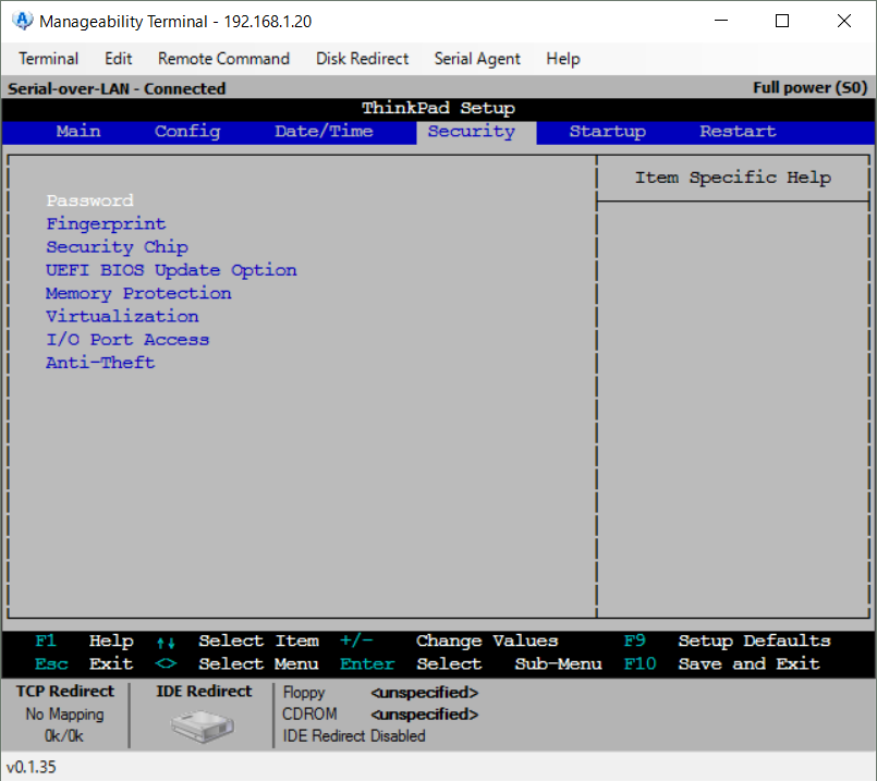 Manageability Commander tool16