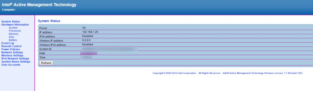 IntelAMT WEB GUI1