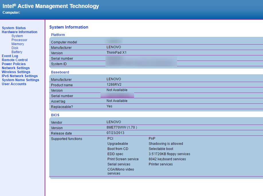 IntelAMT WEB GUI2