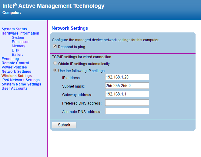 IntelAMT WEB GUI10