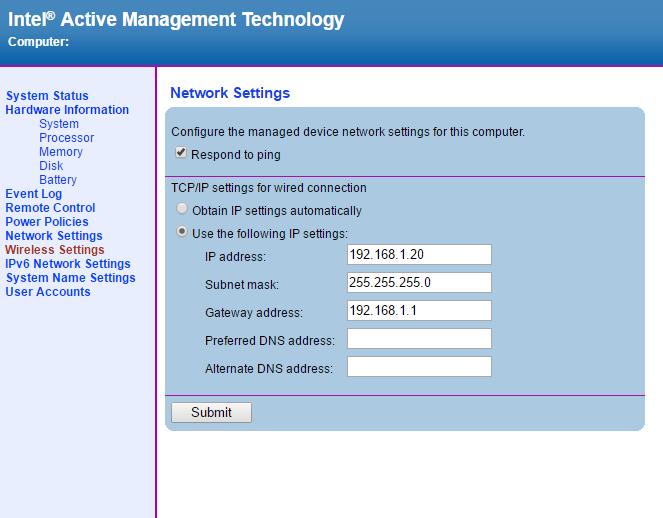 IntelAMT WEB GUI10