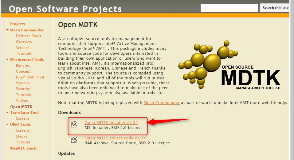 intel developer manageability tool kit2