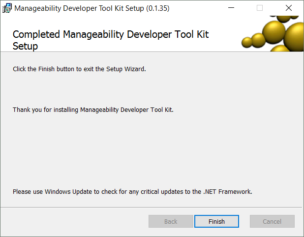 Manageability Commander7